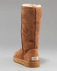 UGG - Brown Classic Tall Kimono Shearling Boot - Lyst