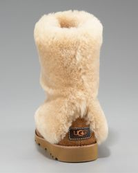 UGG - Brown Chestnut Maylin Shearling Cuffed Ankle Boot - Lyst