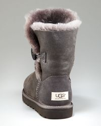 UGG - Gray Bailey Button Bomber Boot - Lyst