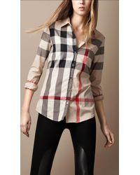Burberry Brit - Natural Tonal Check Shirt - Lyst