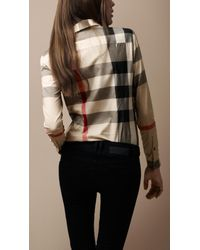 Burberry Brit | Natural Tonal Check Shirt | Lyst