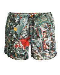 Christopher Kane | Multicolor Systems Print Swim Shorts for Men | Lyst