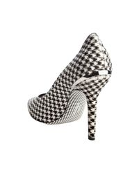 Ferragamo - Black Houndstooth Calf Hair Clotilde Pumps - Lyst