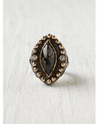 Free People | Metallic Moon Stone Ring | Lyst