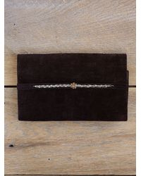 Free People - Brown Vintage Embroidered Clutch - Lyst