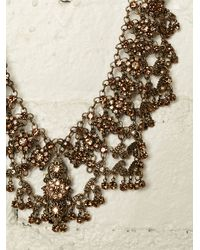 Free People - Metallic Vintage Brass Necklace - Lyst