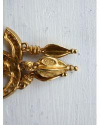 Free People - Metallic Vintage Chanel Earrings - Lyst