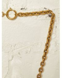 Free People - Metallic Vintage Chanel Necklace - Lyst