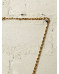 Free People - Brown Vintage Gold Plated Necklace - Lyst