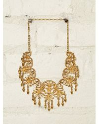 Free People - Metallic Vintage Necklace - Lyst