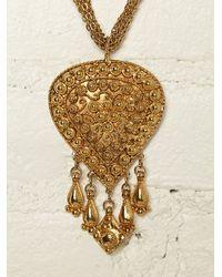 Free People - Metallic Vintage Necklace - Lyst