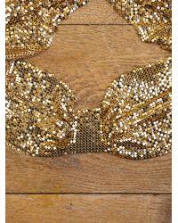 Free People | Metallic Vintage Whiting & Davis Mesh Collar | Lyst