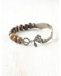 Free People - Metallic Balthazar Scroll Bracelet - Lyst