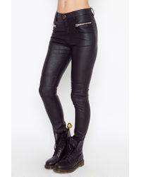 Nasty Gal - Black Morrison Moto Pants - Lyst