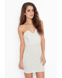 Nasty Gal - White Right Angles Dress - Ivory Lace - Lyst