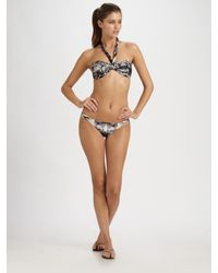 Jean Paul Gaultier | Black Two-piece Printed Bandeau Bikini | Lyst