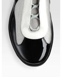 Prada | Black High-Top Patent Sneakers for Men | Lyst