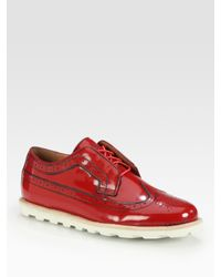 Jump - Red Leather Brogues for Men - Lyst