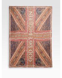 Alexander McQueen | Multicolor Silk Patchwork Logo Scarf | Lyst