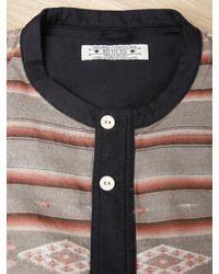 Sasquatchfabrix | Brown Mens Collarless Guatemala Shirt for Men | Lyst