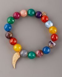 Sydney Evan - Multicolor Agate & Pave Diamond Bracelet - Lyst