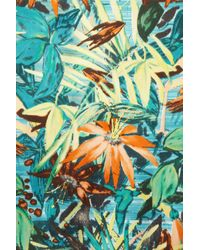 TOPSHOP | Green Hawaiian Floral Bomber | Lyst