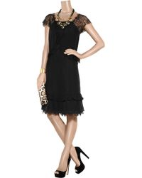 Day Birger et Mikkelsen | Black Day Lace Silk Dress | Lyst