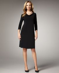Eileen Fisher | Black Jersey Dress | Lyst