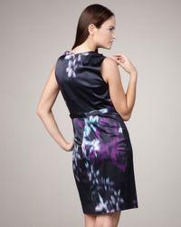 Elie Tahari - Black Brittany Printed Dress - Lyst