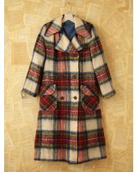Free People | Multicolor Vintage Brushed Plaid Coat | Lyst