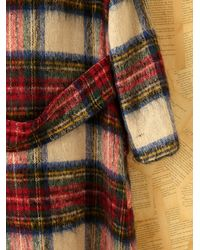Free People - Multicolor Vintage Brushed Plaid Coat - Lyst