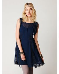 Free People - Blue Modern Day Flapper Dress - Lyst