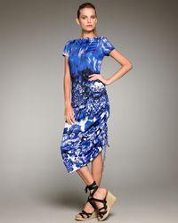 Jean Paul Gaultier | Blue Optic Floral-print Dress | Lyst