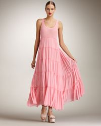 Jean Paul Gaultier | Pink Tiered Maxi Dress | Lyst
