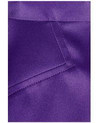 Just Cavalli - Purple Satin Pencil Skirt - Lyst