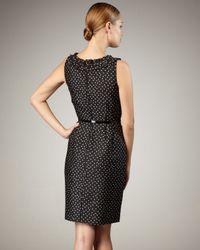 kate spade new york - Black Courtney Polka-dot Dress - Lyst