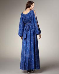 Rachel Zoe - Blue Olivia Leopard-print Gown - Lyst