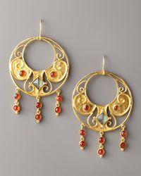 Stephanie Anne | Metallic Round Antiquity Earrings | Lyst
