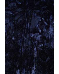 TOPSHOP - Blue Navy Velvet Kimono Jacket - Lyst