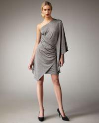 Trina Turk | Gray Rapture One-shoulder Dress | Lyst