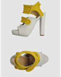 Balenciaga | Yellow Platform Sandals | Lyst