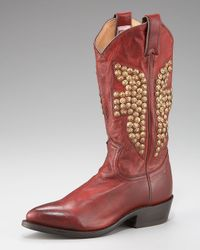 Frye | Brown Billy Studded Short Boot | Lyst