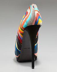 Giuseppe Zanotti - Multicolor-striped Pump - Lyst