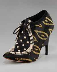 Loeffler Randall - Black Wallaby Lace-up Bootie, Calf Hair - Lyst