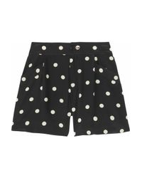 Marc By Marc Jacobs | Black Hot Dot Silk Shorts | Lyst