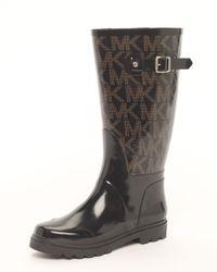 MICHAEL Michael Kors - Black Tall Logo Rain Boot - Lyst