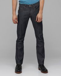 Obey | Blue The Standard Issue Slim Straight Fit Jeans in Raw Indigo for Men | Lyst