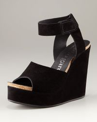 Pedro Garcia | Black Temple Platform Sandal | Lyst