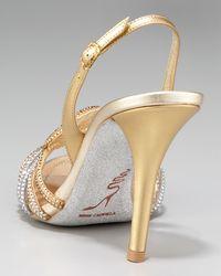 Rene Caovilla - Metallic Crystal-Swirl Sandal - Lyst