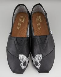 TOMS | Black Touch-toe Butterfly Slip-on | Lyst